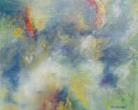 In..The.... Beginning.... Oil on Canvas By Joy Godfrey.