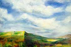 Looking West Oil on Canvas By Joy Godfrey