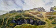 On The Edge Oil on Canvas By Joy Godfrey