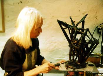 Joy Godfrey Modelling In Wax - Bronze Casting