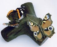 Butterflies Bronze, with 18 ct. gold By Joy Godfrey