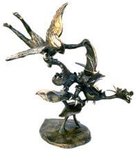 War in Heaven Bronze By Joy Godfrey