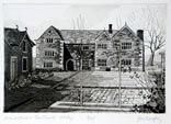 The Manor House & Courtyard, Ilkley 1986 Etching By Joy Godfrey