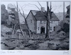 Cottage in Wales Etching, 1986 Etching By Joy Godfrey
