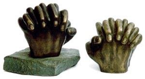 Hands (with base) Bronze By Joy Godfrey