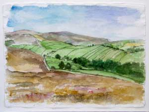 View from Penistone Hill - I Oil on Canvas By Joy Godfrey
