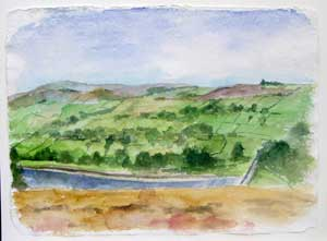 View from Penistone Hill - II Oil on Canvas By Joy Godfrey