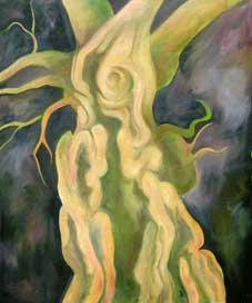 The Laund Oak Revealed Oil on Canvas By Joy Godfrey
