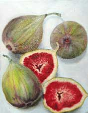 Figs Oil on Canvas By Joy Godfrey