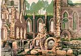 Fountains Abbey silkscreen on 300gsm 100% cotton Arches paper By Joy Godfrey