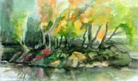 Island in the Sun Watercolour on 600gsm paper By Joy Godfrey