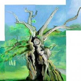 The Laund Oak Oil on Canvas By Joy Godfrey
