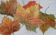 London Leaves Oil on Canvas By Joy Godfrey