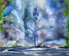Rockface III Oil on Canvas By Joy Godfrey