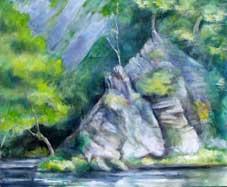 Rockface IV Oil on Canvas By Joy Godfrey