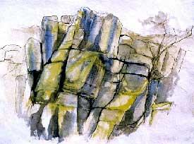 Rocky Valley 1 Oil on Canvas By Joy Godfrey
