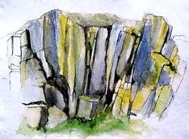 Rocky Valley 2 Oil on Canvas By Joy Godfrey