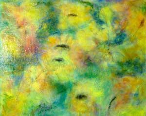 Sunflowers Oil on Canvas By Joy Godfrey