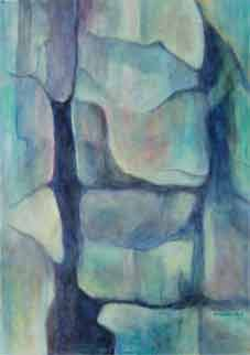 Vertical Hold Oil on Canvas By Joy Godfrey