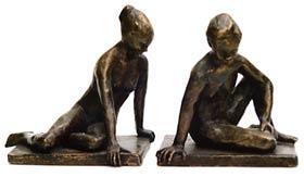 Seated Figure II Bronze By Joy Godfrey