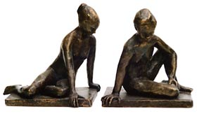 Seated Figure I Bronze By Joy Godfrey