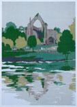 Bolton Abbey Limited edition silkscreen print, 1979 By Joy Godfrey