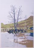 The Tarn 1976 Silkscreen Print By Joy Godfrey