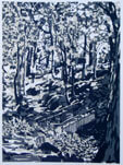 Heber's Ghyll 1977 Silkscreen Print By Joy Godfrey