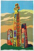 The Saxon Crosses Silkscreen By Joy Godfrey