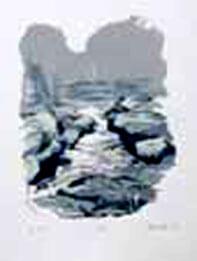 The Strid Silkscreen print On Somerset cotton paper, 270 gsm By Joy Godfrey