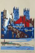 Bootham Bar Silkscreen Print By Joy Godfrey